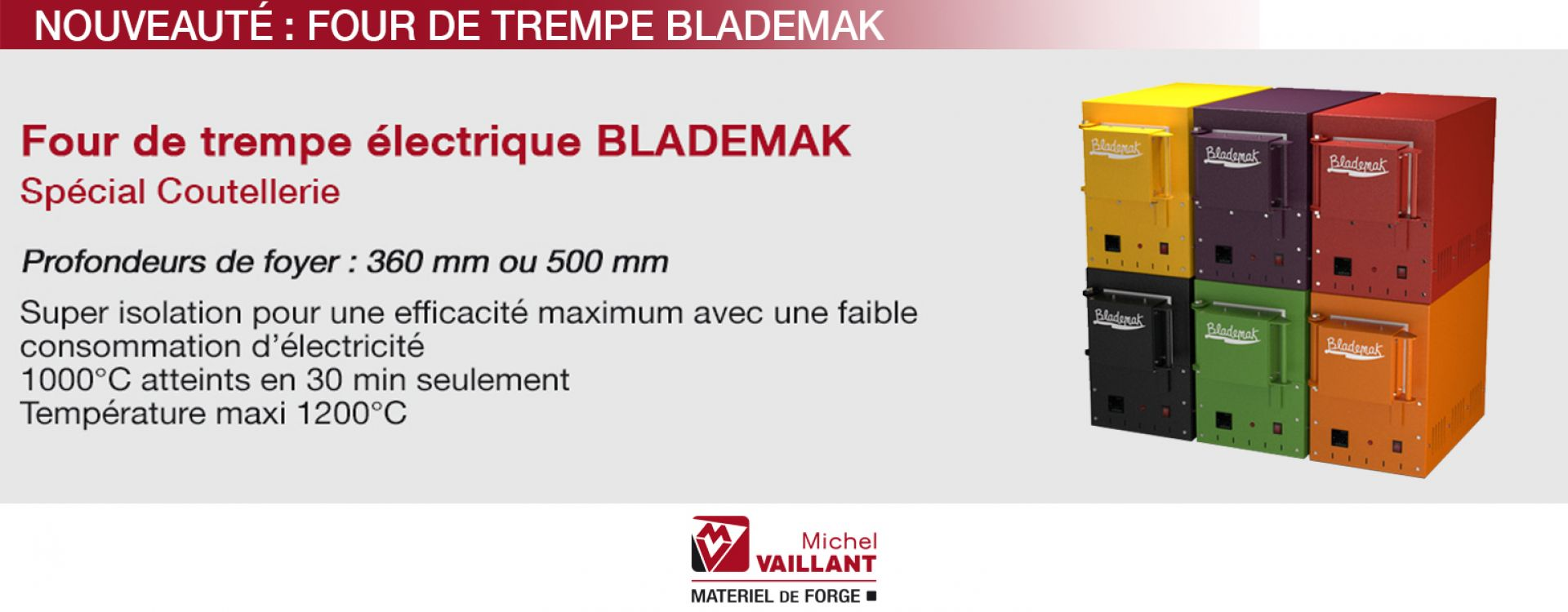 Forge - Coutellerie - Four - Trempe - électrique - Blademak